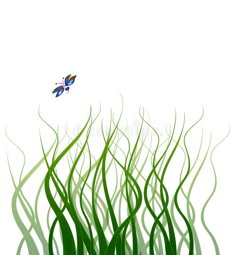 Download Curly Grass stock illustration. Image of ecology, windblown - 15628370
