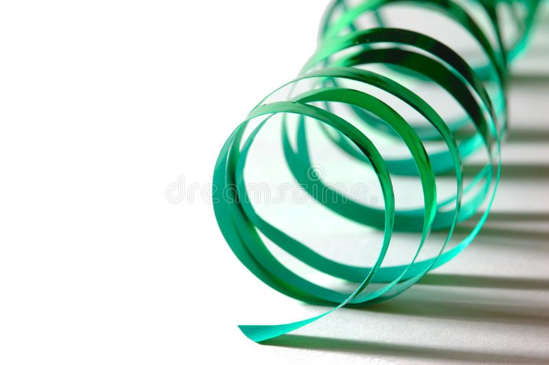 Curly green ribbon royalty free stock photos