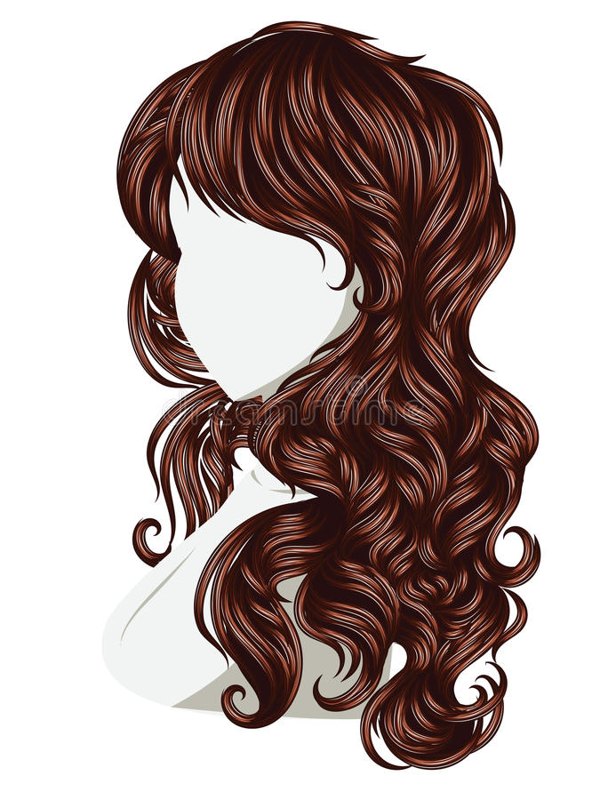 Curly Hair Style Stock Vector Image 59026755