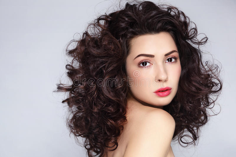 Curly hair royalty free stock images