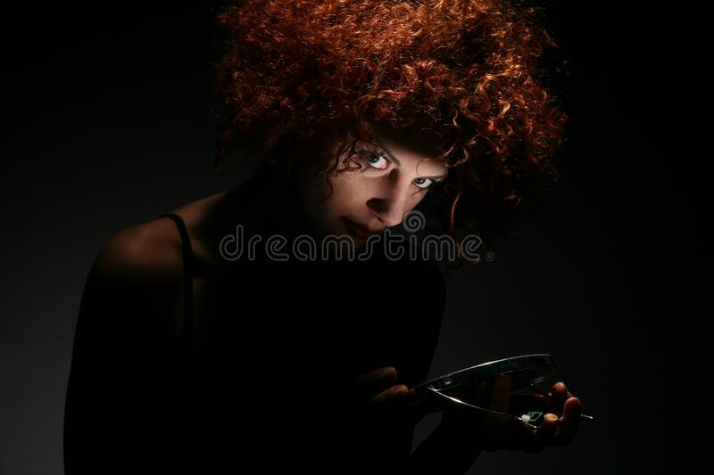 Curly Haired Woman Free Public Domain Cc0 Image