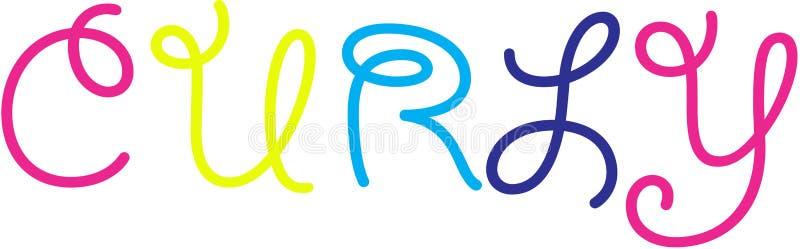 Curly Logo. Swirl Letters Logo vector illustration