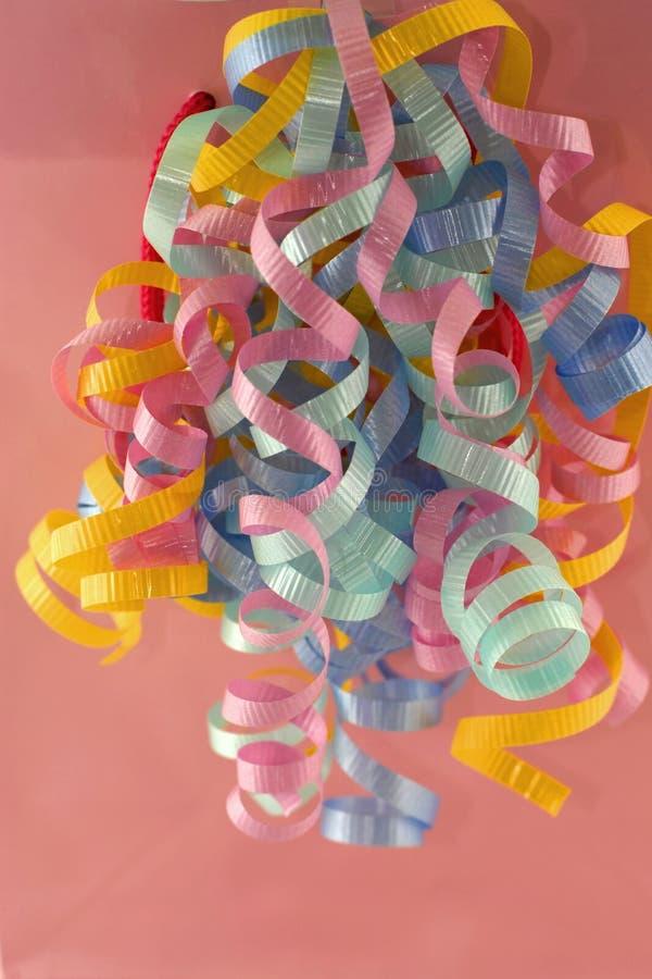 curly różowe wstążki zdjęcia stock