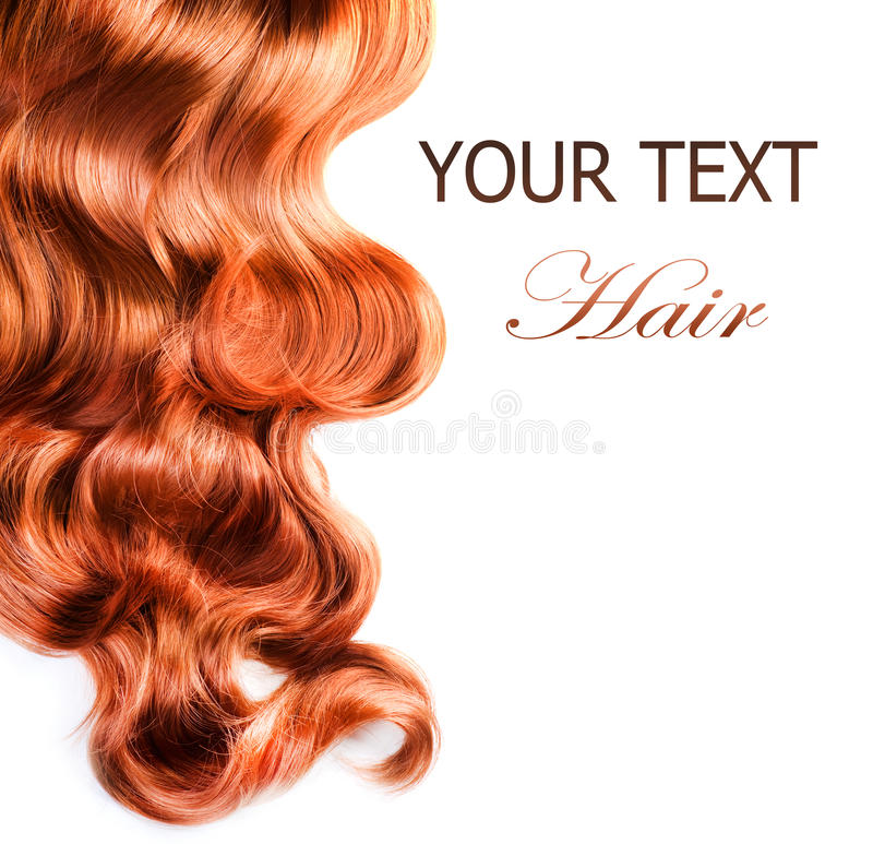 Curly Red Hair stock photo
