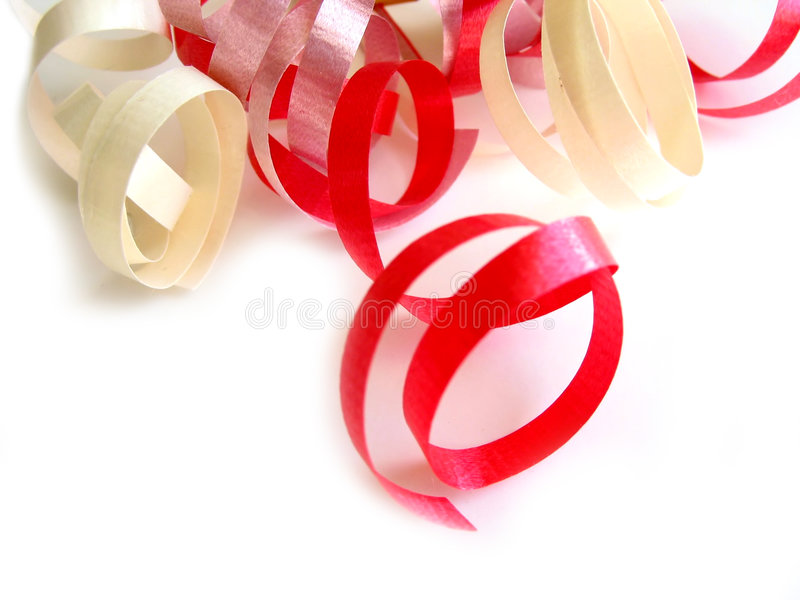 Curly ribbon royalty free stock photography