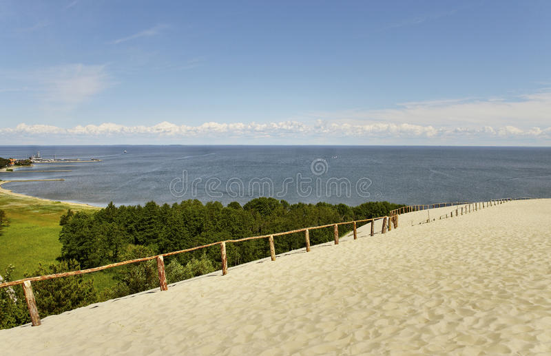 The Curonian Spit. The Curonian Spit, Baltic dune in summer royalty free stock photography