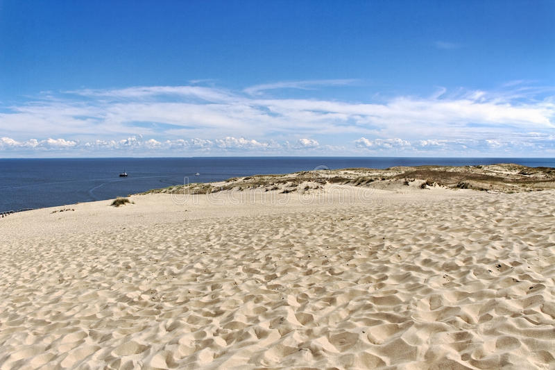 The Curonian Spit. The Curonian Spit, Baltic dune in summer royalty free stock images