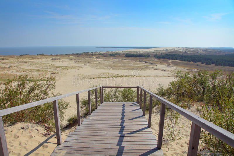 Curonian Spit. The Curonian Spit in Lithuania stock photo