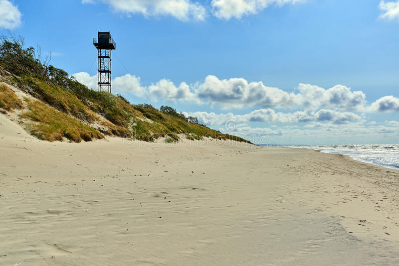 Curonian Spit. Russian part of Curonian Spit in summertime. Curonian spit, is the most popular destination of the Kaliningrad region. It is a UNESCO World royalty free stock images