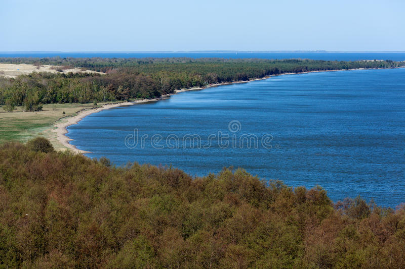The Curonian Spit at spring time. Kaliningrad area, Russia royalty free stock photo