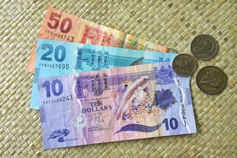 Currenc dei soldi del Fijian fotografia stock