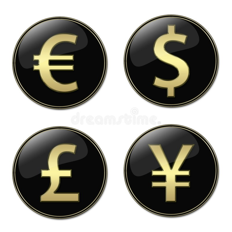 Download Currencies signs buttons stock illustration. Image of dollar - 5533869