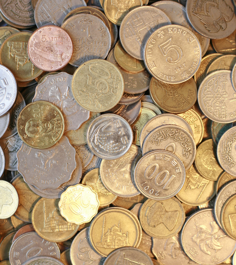 Currency. Collection of different countries currency royalty free stock photos