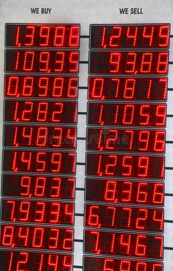 Currency Board Royalty Free Stock Photos