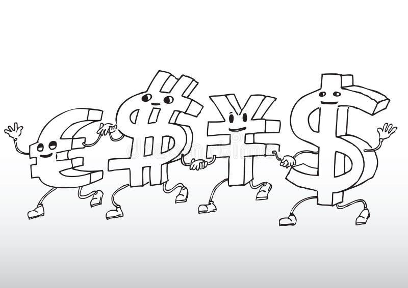 Currency cartoon vector illustration