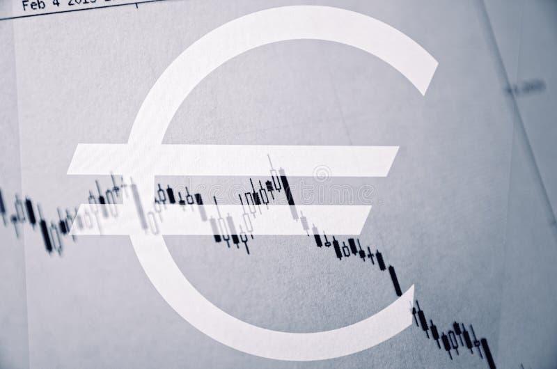 Euro bear market stock images