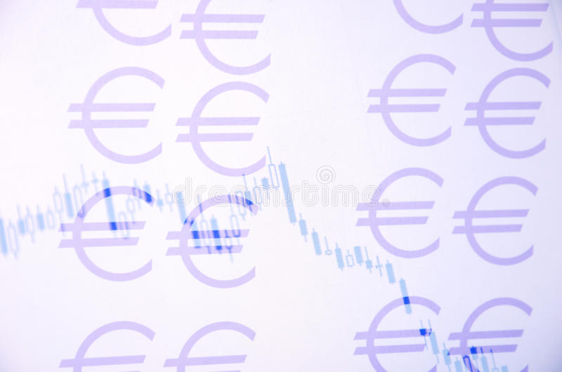Currency chart stock illustration