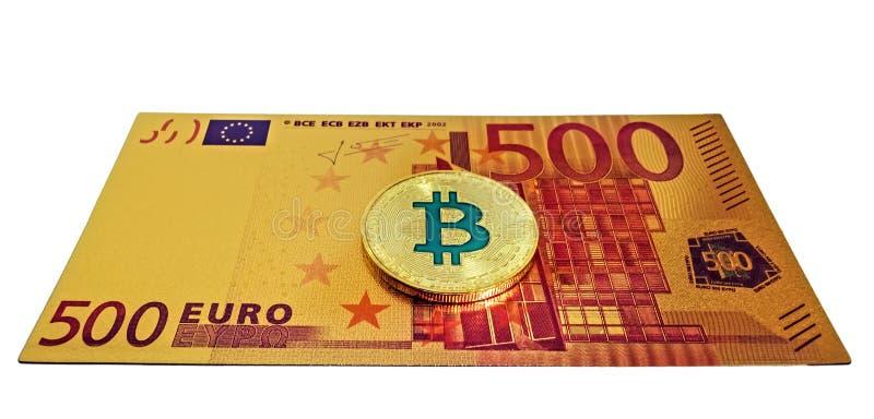 Cambio di valuta da 500 Euro a Bitcoin