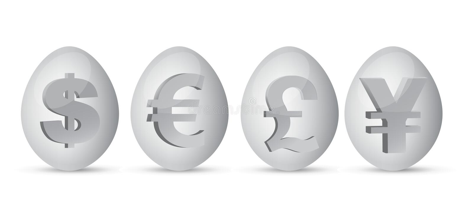 Download Currency eggs illustration stock vector. Image of concept - 24842713