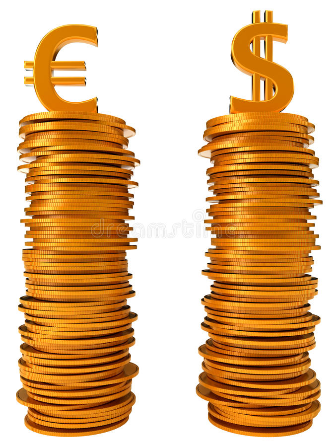 Download Currency Equation - US Dollar And Euro Stock Illustration - Image: 16501181