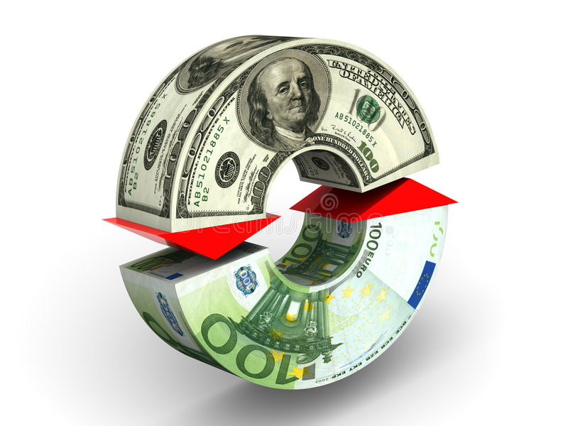 Currency exchange stock illustration