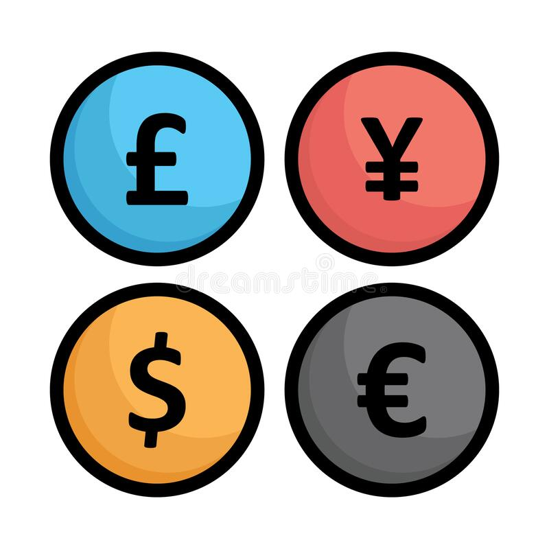 Free Currency Exchange, Currency Notes Vector Icon Which Can Easily Modify Royalty Free Stock Photos - 204769258