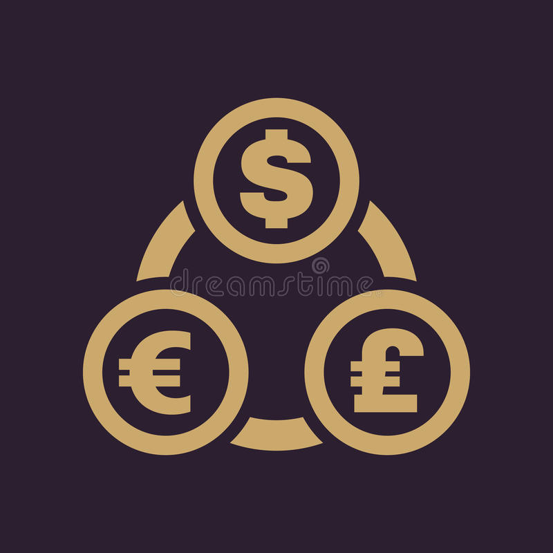 The Currency Exchange Dollar Euro Pound Sterling Icon Cash And
