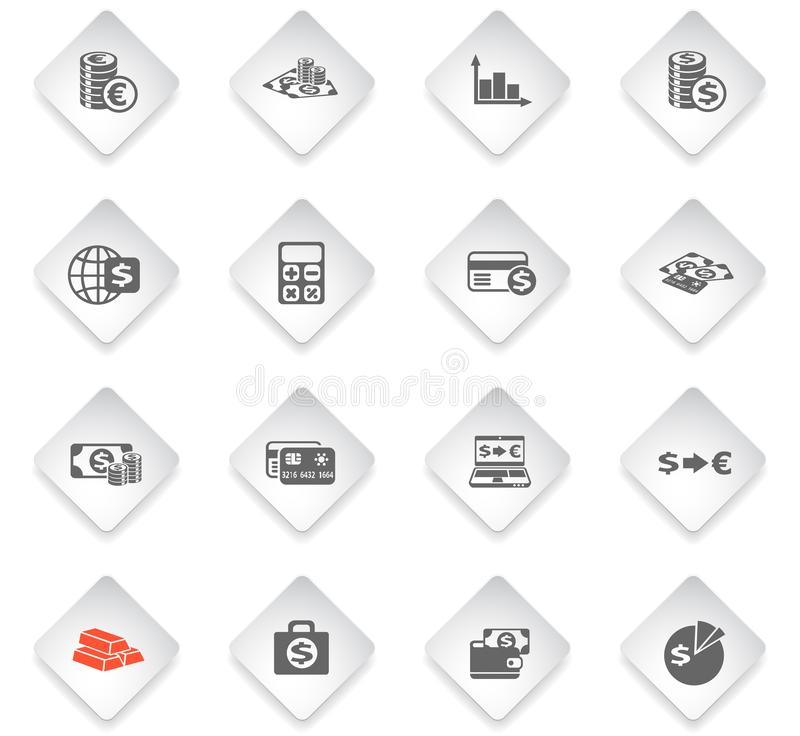 Currency Exchange Color Icon Set Stock Vector - Illustration