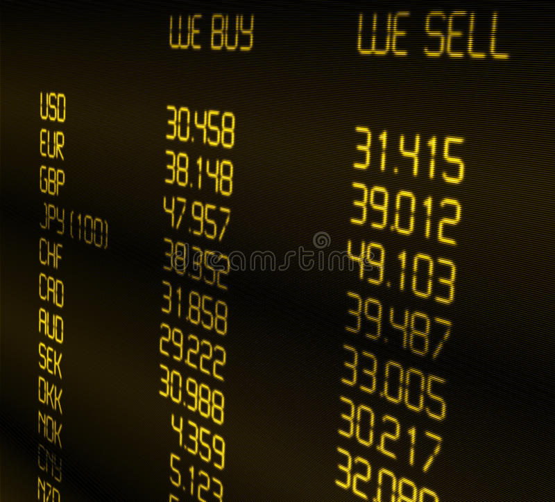 Currency Exchange Rate royalty free illustration