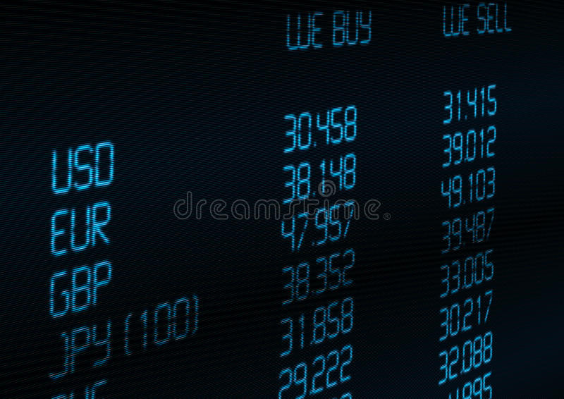 Currency Exchange Rate stock illustration