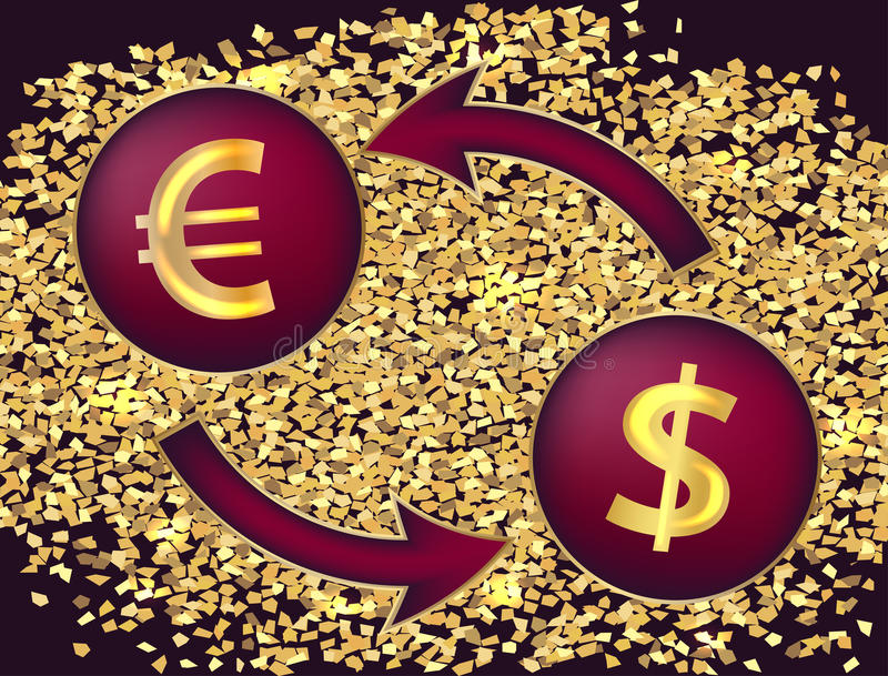 Currency Exchangembols Of The Dollar And The Euro Stock Vector