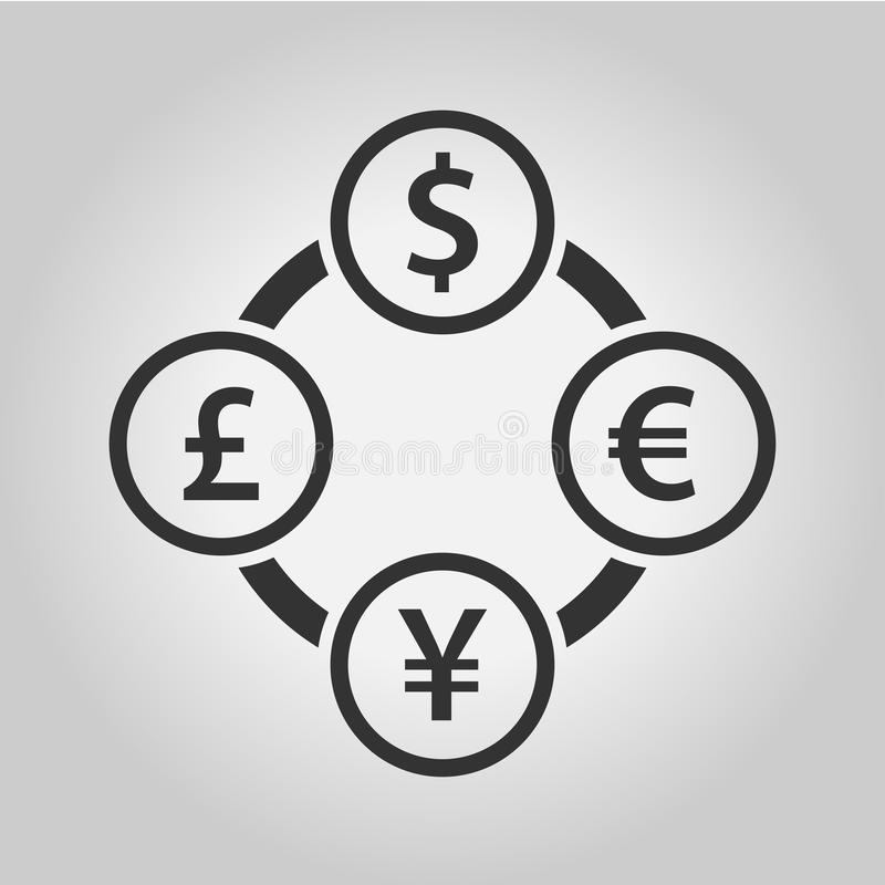 Currency Exchange Symbols Stock Vector Illustration Of Financial