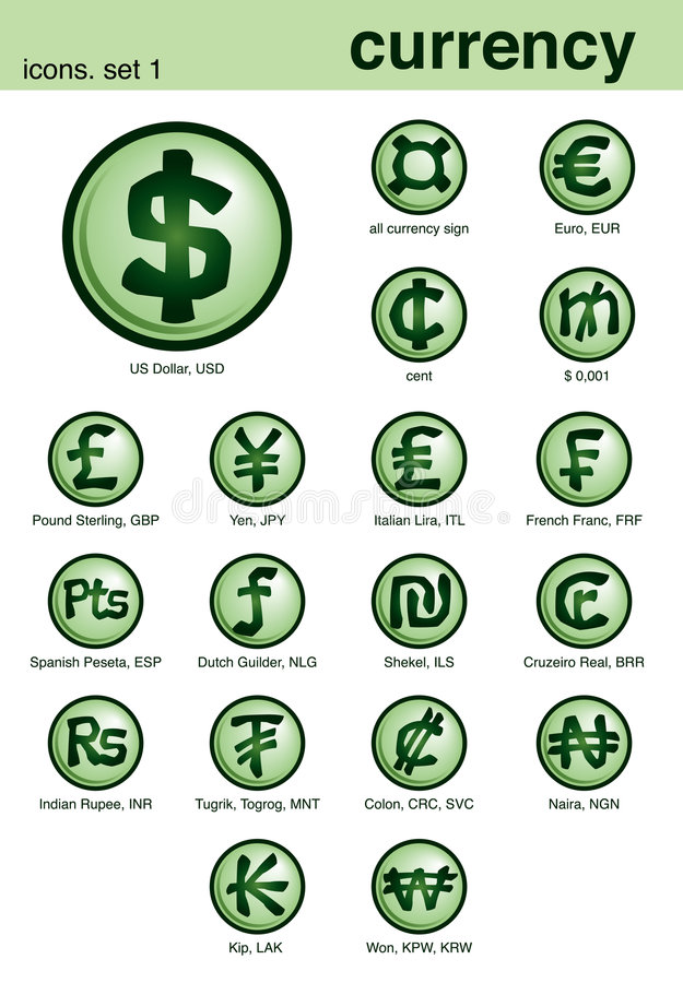 Free Currency Icons Stock Photos - 1794193