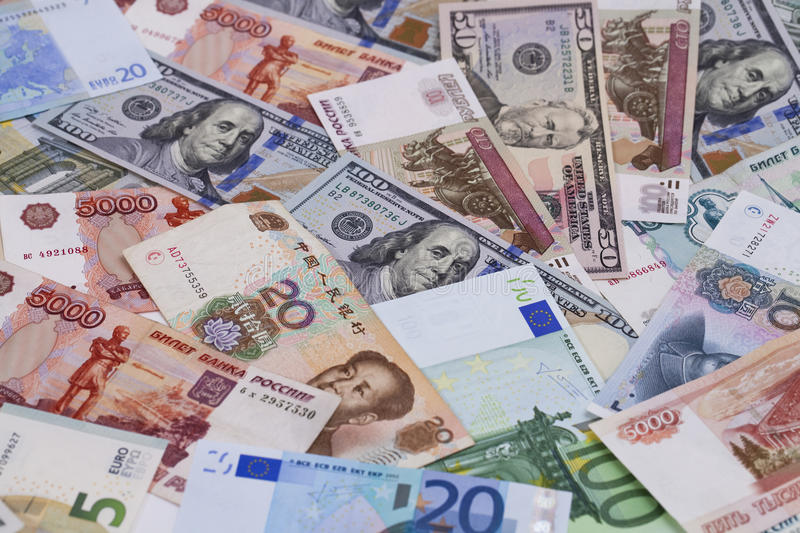 Currency leading countries stock image