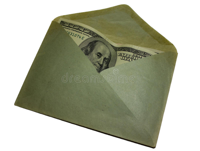 Currency in paper envelope stock photos