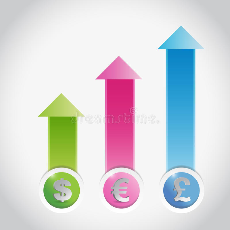 Currency Prices Graph Illustration Design Royalty Free Stock Images