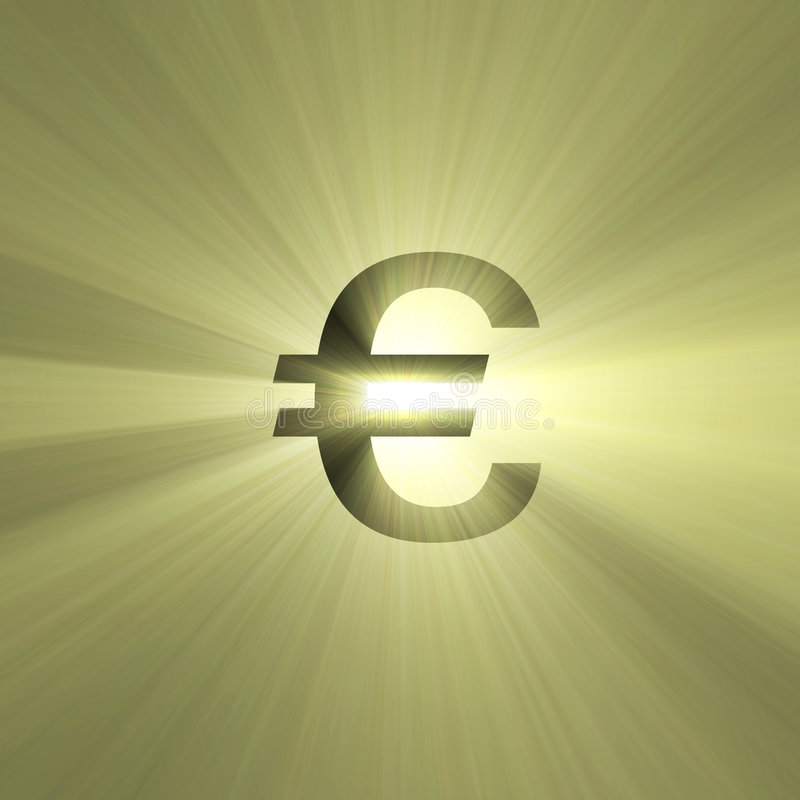 Download Currency Sign Euro Light Flare Stock Illustration - Image: 2855517