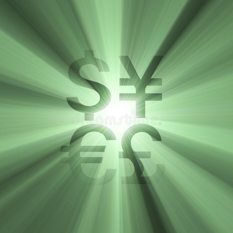 Download Currency Sign Money Green Light Flare Stock Illustration - Image: 2855768