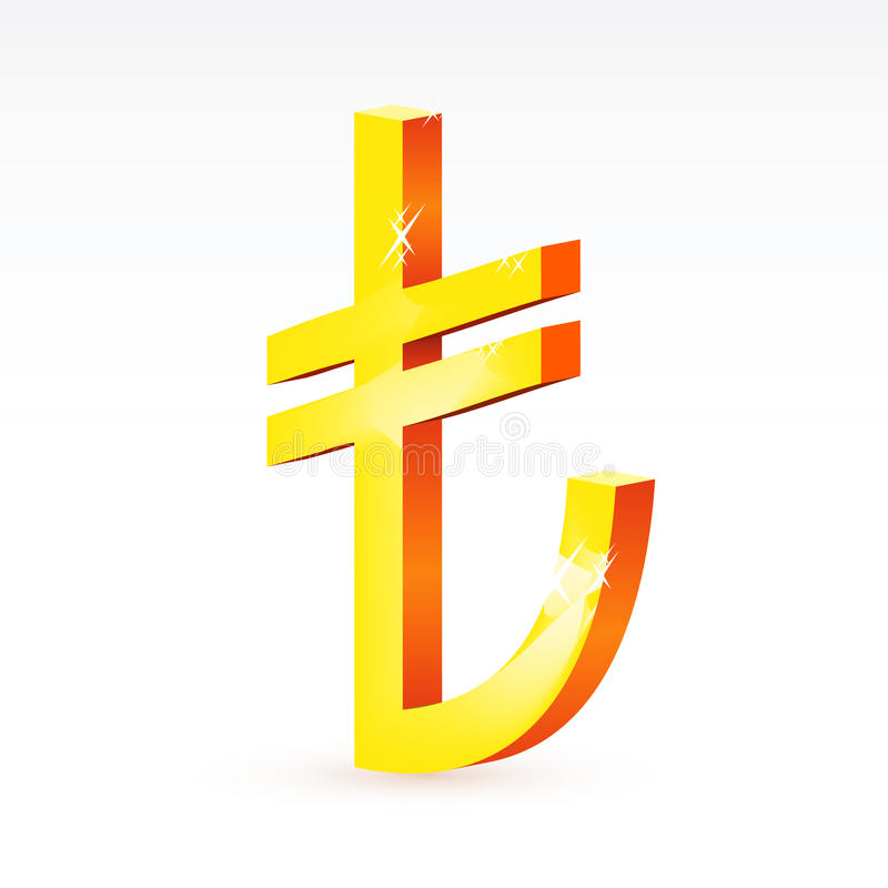 Download The Currency Sign Of Turkish Lira Stock Vector - Image: 25235734