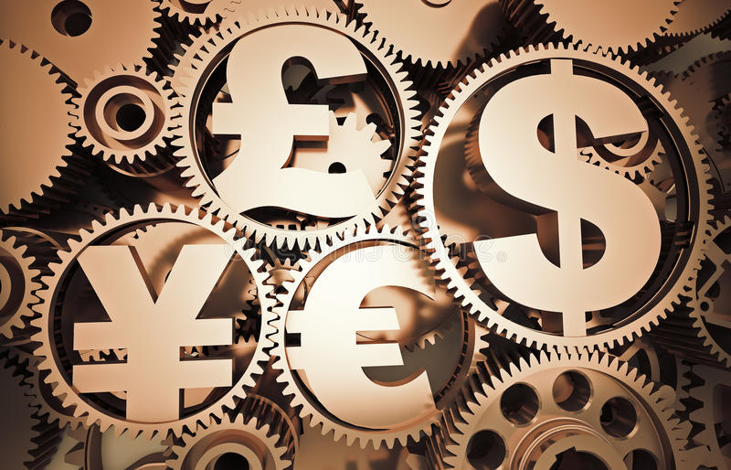 currency signs stock illustration