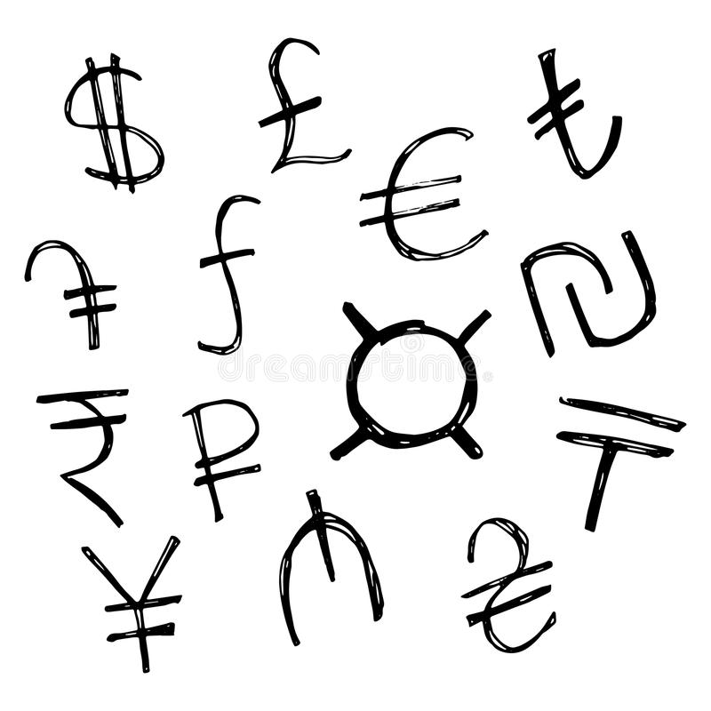 Currency Symbols Of Various Countries Stock Vector Illustration Of