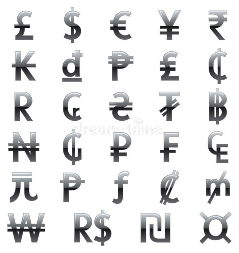 Download Currency Symbols Of The World Stock Vector - Illustration: 21591416