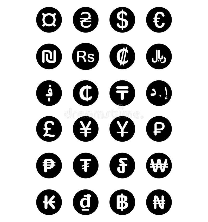 Currency Symbols Of The World Stock Illustration Illustration Of