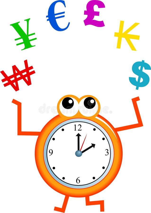 Download Currency time stock illustration. Image of juggle, household - 7374593