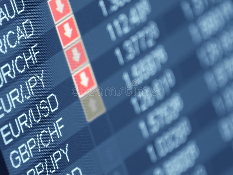 Currency trading stock images