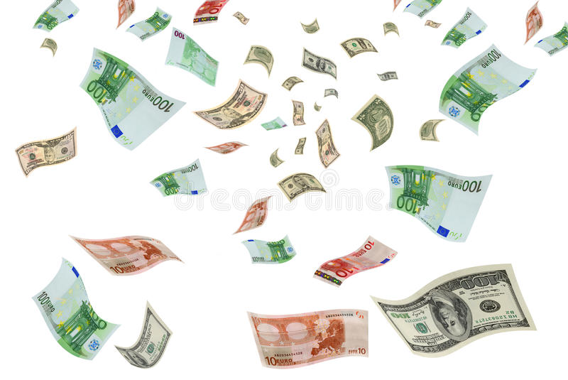 Download Currency Trading Euro-dollar. Stock Image - Image: 36193749