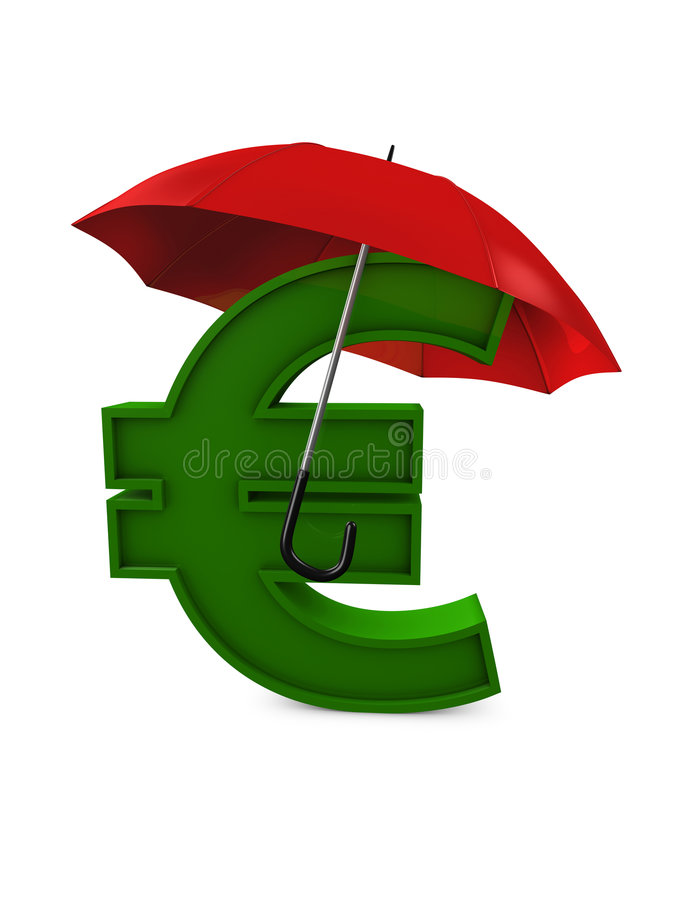 Download Currency umbrella stock illustration. Image of secure - 7411006