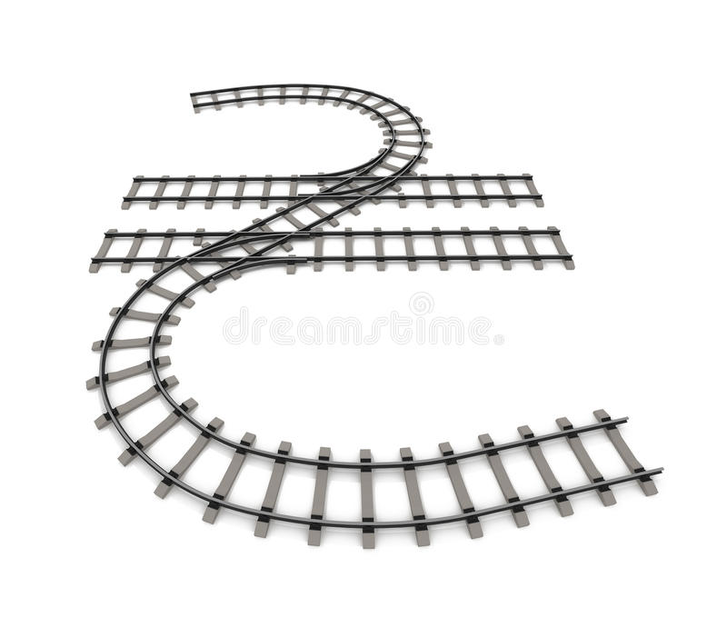 Currency Unit In The Form Of Railway Rails Stock Image