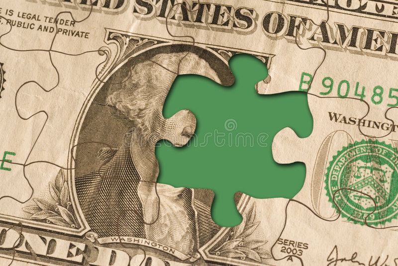 Currencypuzzle02 photos stock