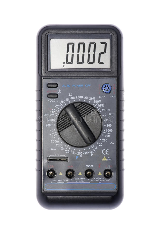 Download Current Measuring Tool On White Stock Image - Image: 13513867